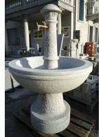 Fontana Rotonda in Serizzo Antigorio Bociardato