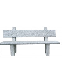 Panchina con Schienale in Serizzo Antigorio T. Disco sez cm 180x40x6