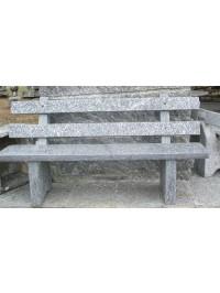 Panchina con Schienale in Serizzo Antigorio Lucido sez cm 170x35x5