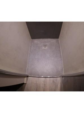 bac douche sec cm 102x83 5x4 en noir afrique bross. Black Bedroom Furniture Sets. Home Design Ideas